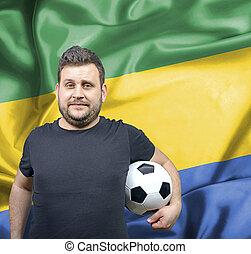 Proud football fan of Gabon