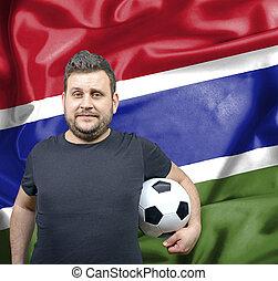 Proud football fan of Gambia