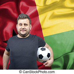 Proud football fan of Guinea Bissau