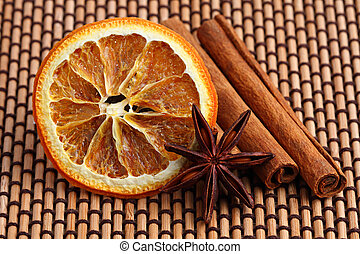christmas spices 1 - orange slice with anis and cinamon...