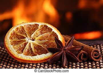 christmas spices 2 - orange slice with anis and cinamon...