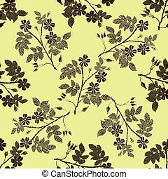 Beige briar, brier pattern - Vector vintage seamless pattern...
