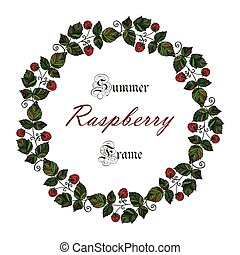 Vector colored raspberry frame