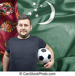 Proud football fan of Turkmenistan