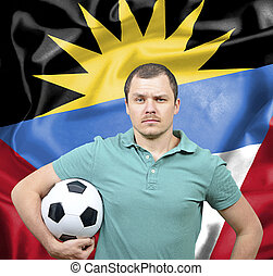 Proud football fan of Antigua and Barbuda
