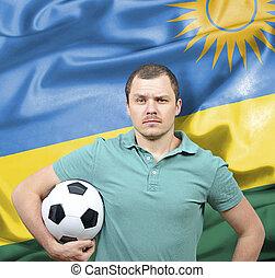 Proud football fan of Rwanda