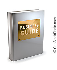 Business Guide - 3D illustration of textbook on business