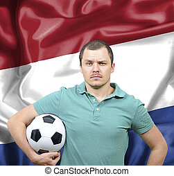 Proud football fan of Netherlands
