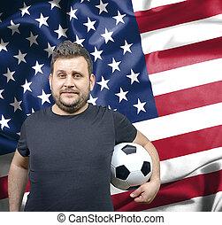 Proud football fan of USA