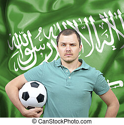 Proud football fan of Saudi Arabia