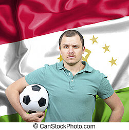 Proud football fan of Tajikistan