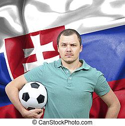 Proud football fan of Slovakia