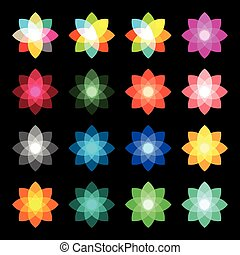 Isolated abstract star colorful logo. Color flower logo....