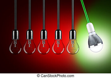 LED pendulum concept - led light bulb pendulum