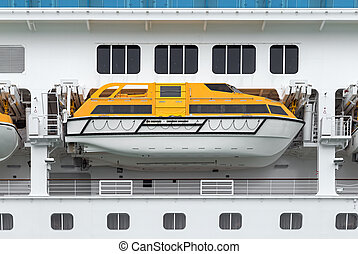 lifeboat on a cruise ship
