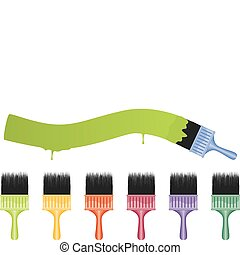 Paint Brushes - A set of colorful and detailed paintbrushes...