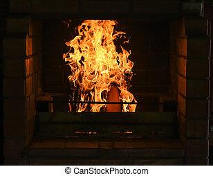 fogo, chama, lareira