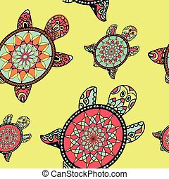Seamless tortoise pattern in oriental style. an be used for...