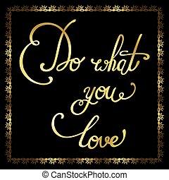 Elegant golden quote.