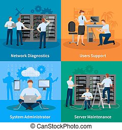 IT Administrator 2x2 Design Concept - Network engineer and...