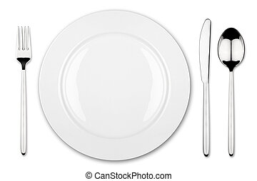 place setting 3 - place setting with dish fork and knife