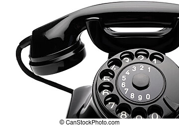 retro phone 1 - an old telephon with rotary dial