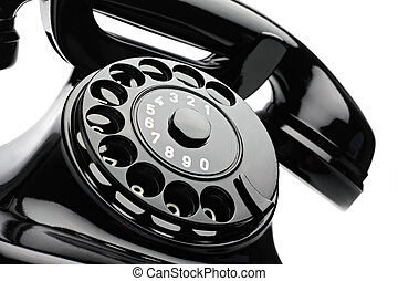 retro phone 2 - an old telephon with rotary dial