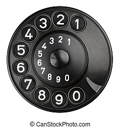 rotary dial pad of an old telephone