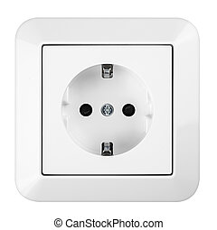 saftey socket - white european power socket