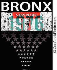 Bronx ew York sport typography, t-shirt graphics, vectors