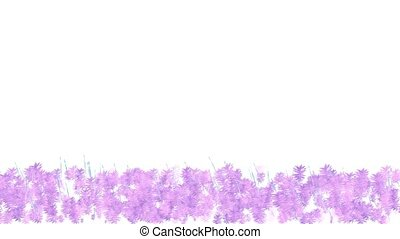 purple swing leaves,watercolor style,spring scenery