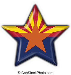Arizona (USA State) button flag star shape - 3d made
