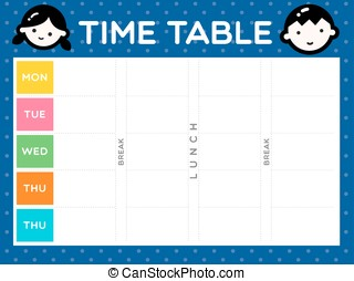 127 TIME TABLE