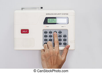 Hand push button of home security