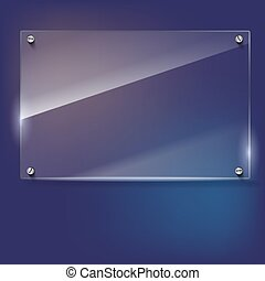 Vector glass frame with rivets - Vector glass frame with...