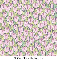 Seamless background with tulips