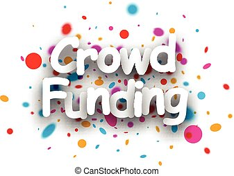 Crowd funding paper background - White crowd funding paper...