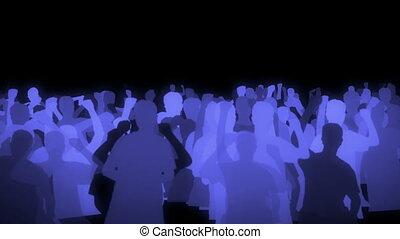 danece people silhouette