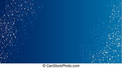 Global communications blue background. - Global...