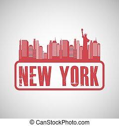 new york city design, vector illustration eps10 graphic