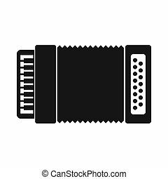 Accordion icon, simple style - Accordion icon in simple...