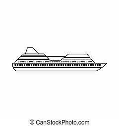 Cruise liner icon, outline style