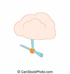 Pair of pipes icon, cartoon style - Pair of pipes icon in...