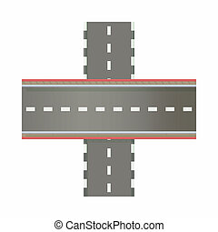 Multilevel road intersection of freeways icon - icon in...