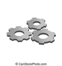 Gears icon in isometric 3d style - icon in isometric 3d...
