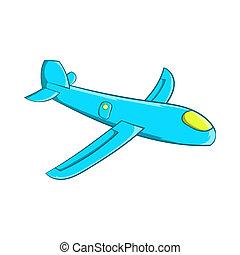 Children plane icon, cartoon style - Children plane icon in...