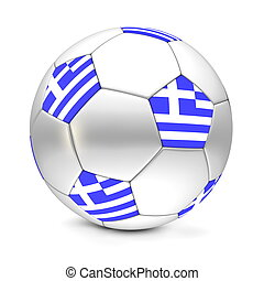 Soccer Ball/Football Greece - shiny football/soccer ball...
