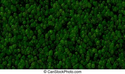 abstract green cells and virus background