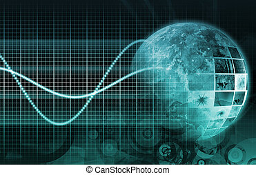 Information Technology Graph as a Art Background
