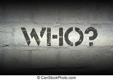who quest gr - who question stencil print on the grunge...